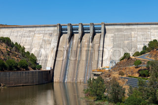 Large dam on the river