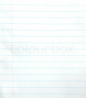 Old rough lined notebook paper background or textured Stock