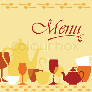 Background with dishware