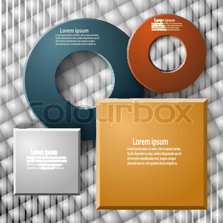 Set of elements for web design and infographics on a geometric background
