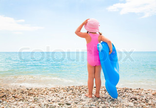 little girl and sea