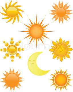 Suns collection Vector illustration
