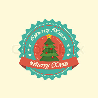 Christmas tree label in green
