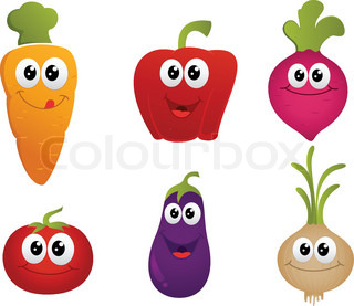 funny cartoon vegetable