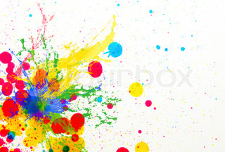 splashing of ink color drop use for colorful background