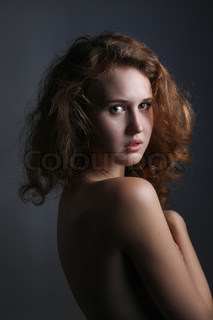 portrait of attractive nude woman