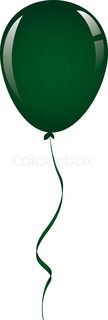 drak green balloon ribbon