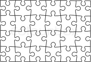 puzzle vector template using puzzle pieces of this illustration you