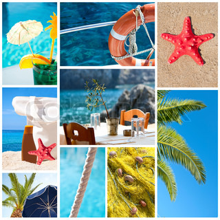 collage sommer strand bilder urlaub konzept stock foto colourbox. Black Bedroom Furniture Sets. Home Design Ideas