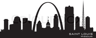 Saint Louis Missouri city skyline vector silhouette