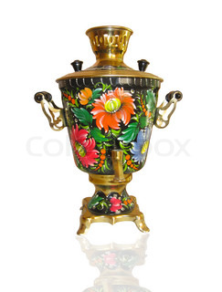Russian samovar isolated on white background