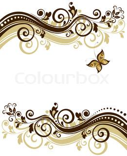 Floral banner Raster kopi