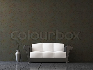 sofa mit einer vase stock foto colourbox. Black Bedroom Furniture Sets. Home Design Ideas