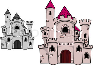 Medieval castle with towers