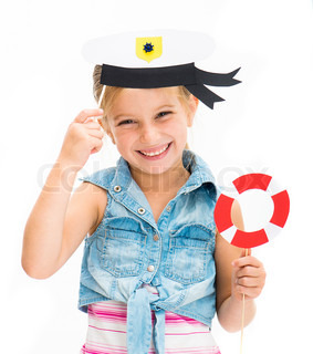 girl in sailor hat