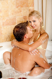 Sexy couple in bathroom
