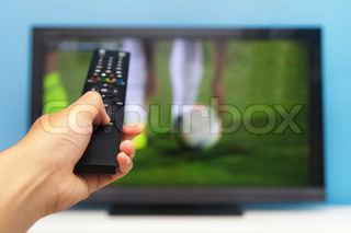Hand pointing tv remote control