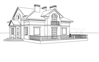 Drawing, Sketch Of A House
