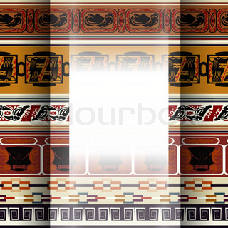 Abstract background with African pattern
