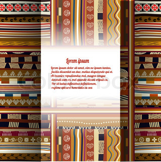 Background with African patterns eps10