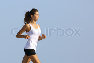 Close up of a woman running