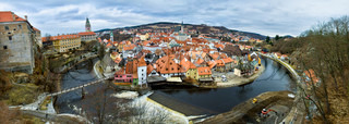 Panoramic view of Cesky Krumlov Czech Krumlov - historical town, Czech republic, UNESCO