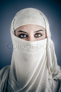 India, Young Arabic woman Stylish portrait