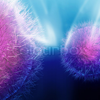 Digital illustration of viruses
