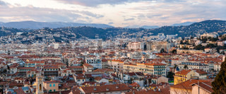 Panorama of Nice town - French Riviera