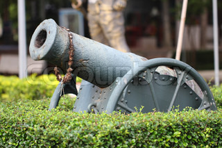 Historic cannon on display