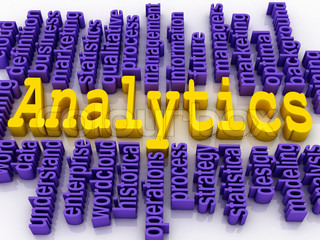 3d concept illustration of analytics business analysis