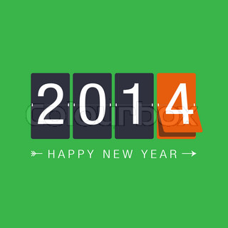 new year 2014 green background