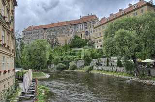 City of Prague, Vltava river and typical medieval architecture in the middle of Czech Republic