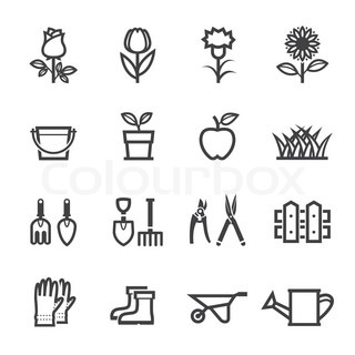 flower_gardening_tools_iconseps