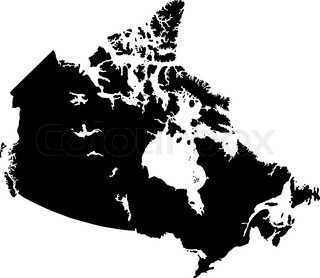 North America Is A Continent Entirely Within The Northern - Us canada map vector
