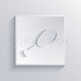 Vector light square icon Eps 10