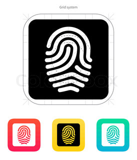 Fingerprint and thumbprint icon