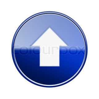 Arrow up icon glossy icon, isolated on white background