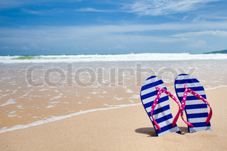 7d0b08f2bddb4 Young girl legs and flip-flop on the ...