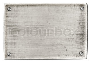 steel metal plate with rivets isolated with clipping path included