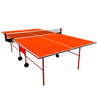 ping pong orange tischtennis vektor illustration stock. Black Bedroom Furniture Sets. Home Design Ideas