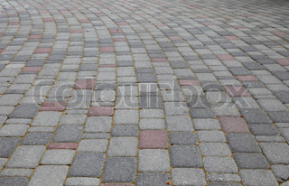 The winding pavement background