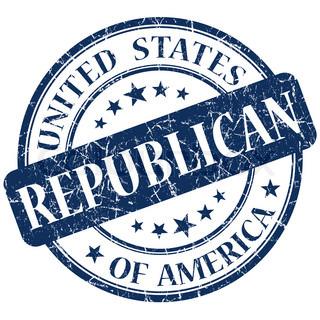 Republican Blue stamp