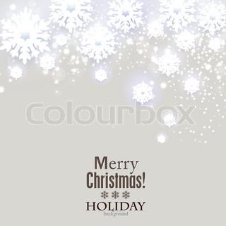 elegante weihnachten hintergrund mit schneeflocken und