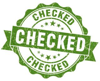 checked green grunge stamp