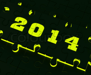 Two Thousand And Fourteen On Puzzle Shows Year 2014 Resolution