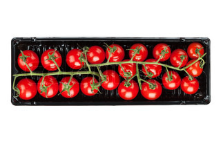 Cherry tomatoes in packaging