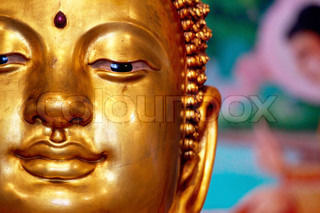 beautiful face of Buddha image