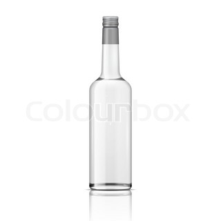 glas wodka flasche mit schraubverschluss stock vektor colourbox. Black Bedroom Furniture Sets. Home Design Ideas