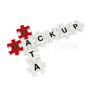 Data backup 3d puzzle on white background | Stock Photo ...